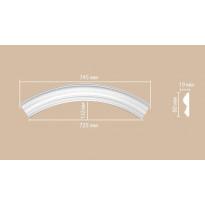 Радиус [1/4 круга] Decomaster 897617-90 (Rнар. 530 | Rвн. 450)